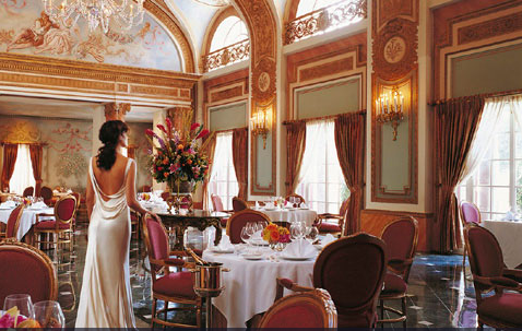 The French Room inside the Adolphus Hotel in Dallas
