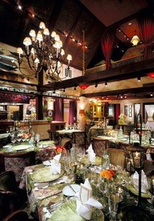 The Main Dining Room at The Herbfarm in Washington