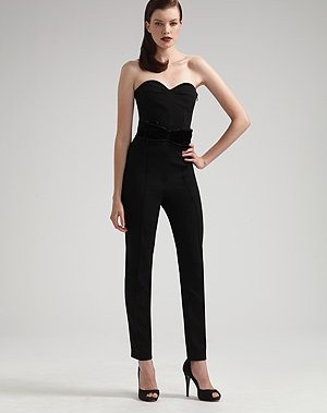 Yves Saint Laurent Wool Bustier Jumpsuit