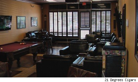 Rocky Patel lounge seating area