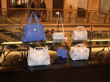 Bags in white and powder blue