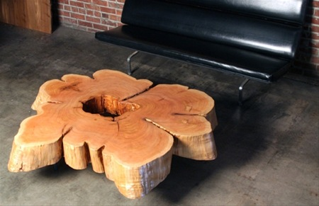 Cedar flare coffee table