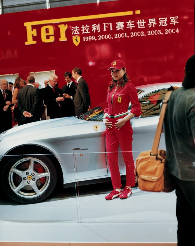 8.	Ferrari girl, Shanghai, 21 April 2005
