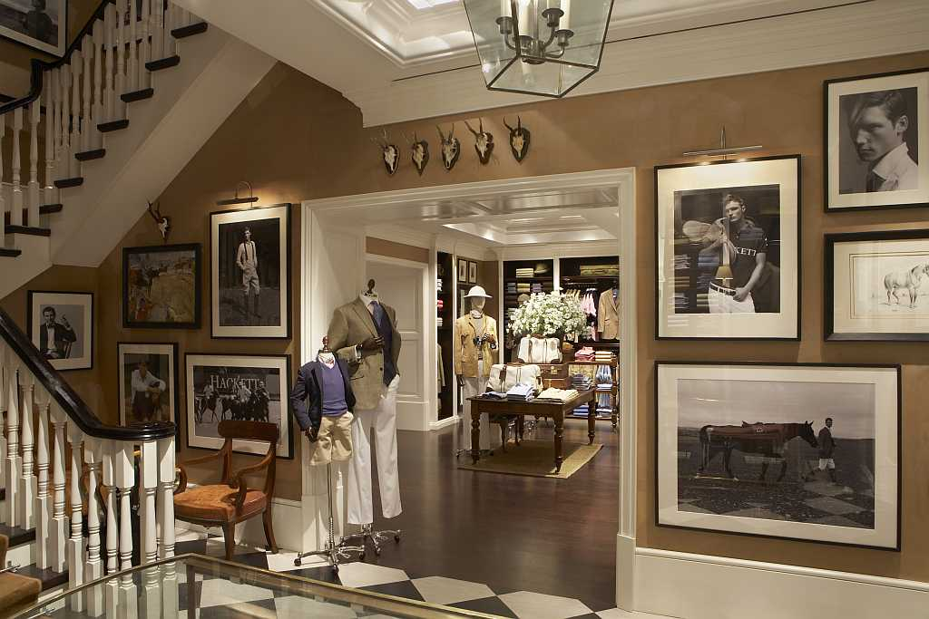 Inside the Hackett store