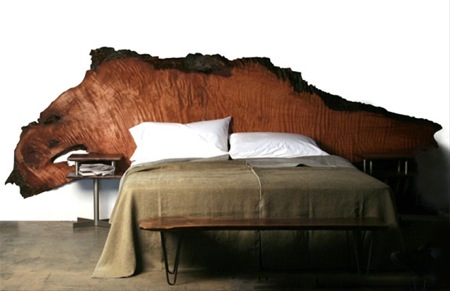 Ancient California redwood headboard