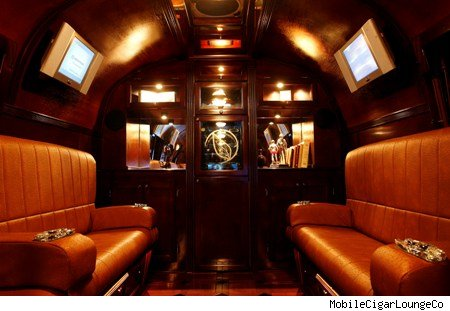 Mobile Cigar Lounge interior