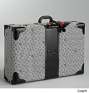 op art suitcase