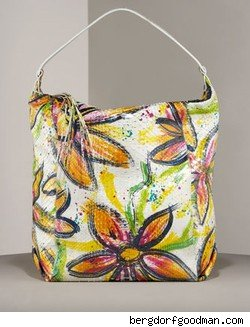 Carlos Falchi Hand Painted Python Hobo