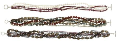 Freshwater Pearl and Gemstone Torsades