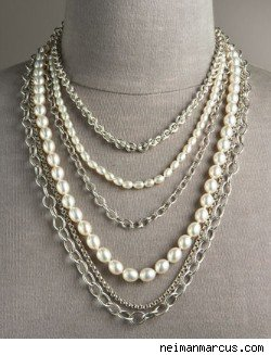 Slane and Slane Six Strand Pearl Necklace