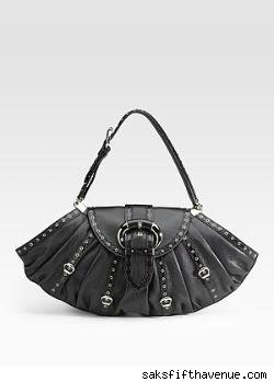 Dior Two-Textured Leather Satchel