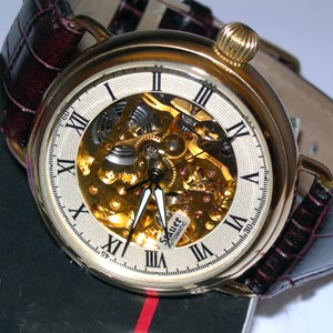 Stauer Automatic Gold Skeleton Watch
