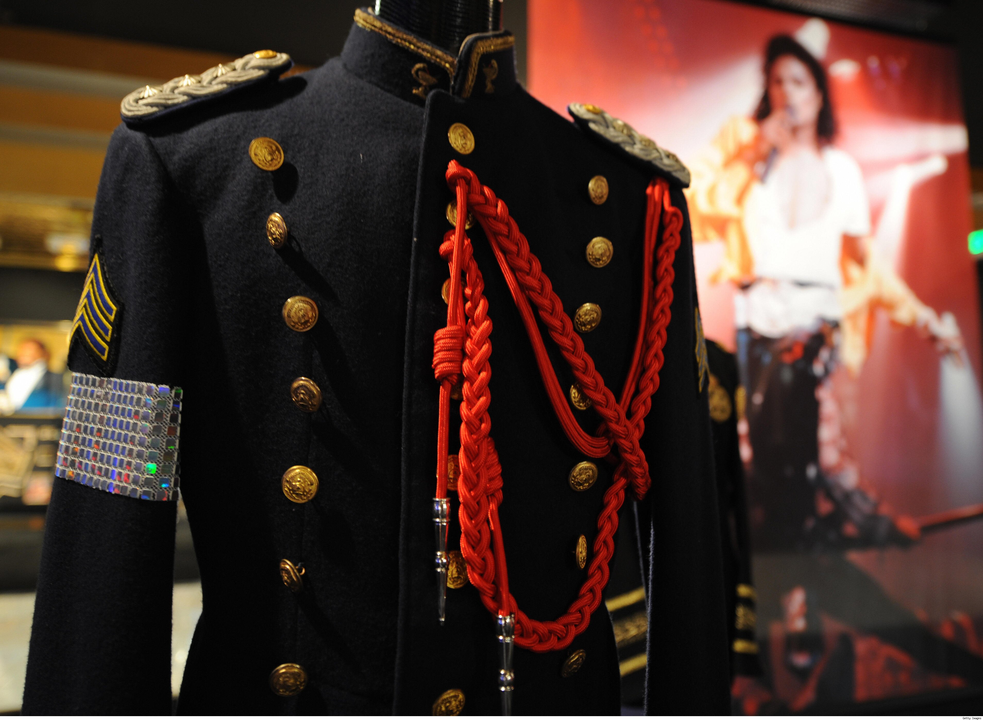 Scenes from the Michael Jackson Auction Exhibit