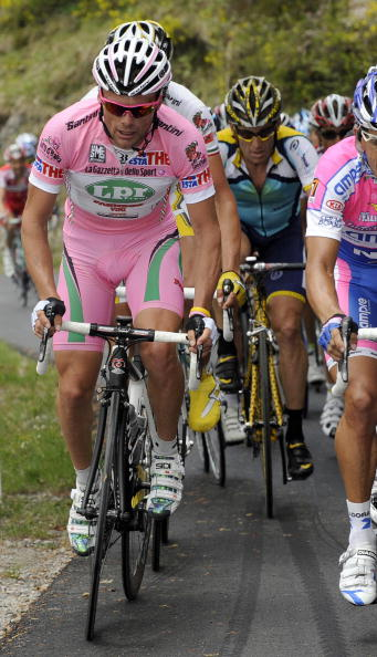 Danilo Di Luca in the maglia rosa