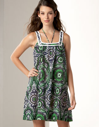 Shoshanna Paisley Coverup Dress