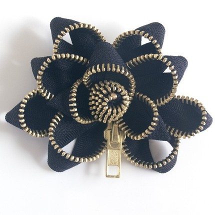 Zipper Pin in Black