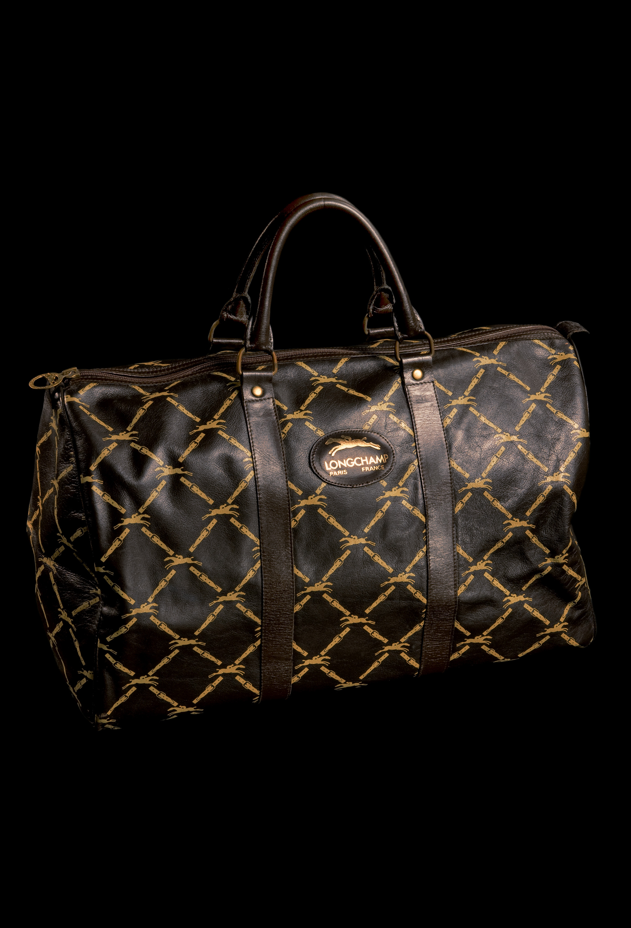 1970s embossed LM Collection duffel