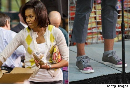Michello Obama Expensive Lanvin Shoes Sneakers