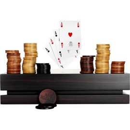 Ghis Macassar Ebony Poker Set 