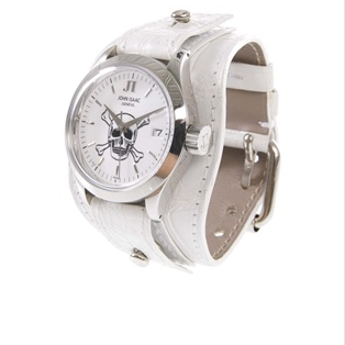 JOHN ISAAC - Crocodile strap skull watch