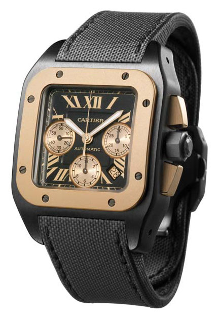 Cartier Santos 100 Carbon Chronograph Watch