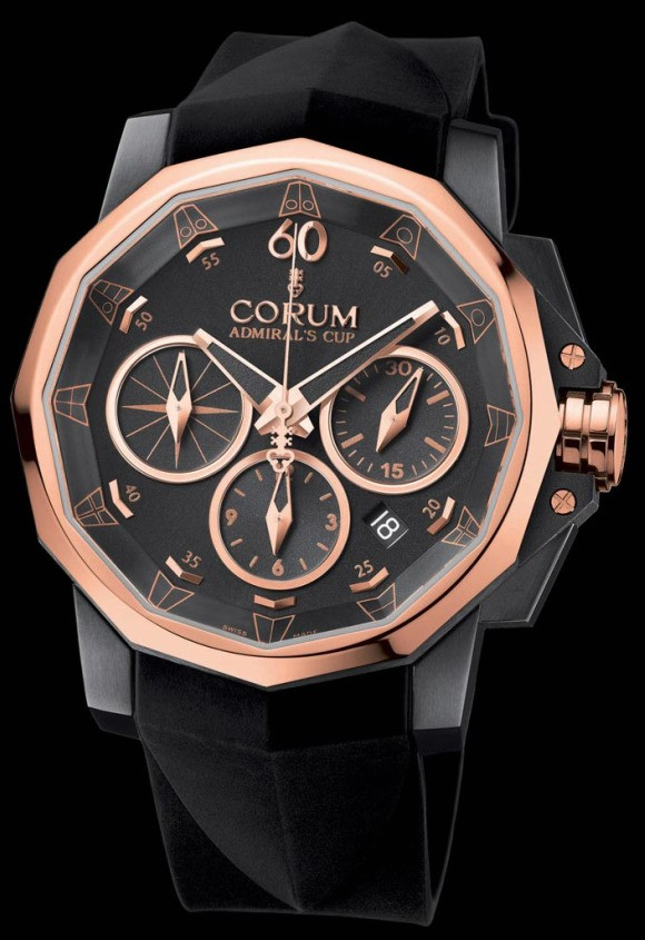 Corum Admiral's Cup Challenge 44 Black & Gold Watch