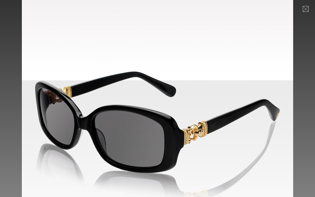 Women's Buckle Sunglasses in Black & Gold