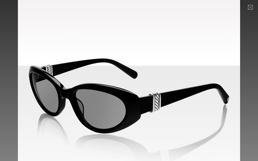 Women's Cable Sunglasses in Black &amp; Silver