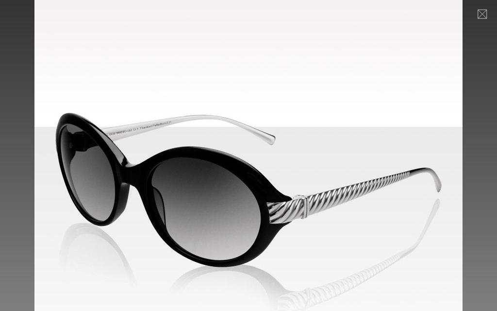 Women's Waverly Sunglasses in Black & Silver