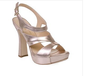Beatrix Ong - Metallic Platform Gladiator Shoes