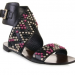 Ash - Bead Embellished Leather Gladiators