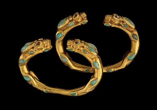 Bracelets in the shape of antelopes, 1st century A.D.