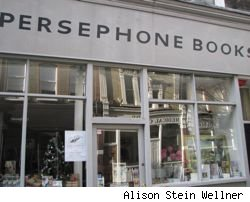 Photo of London's Persephone Book Store on Lamb's Conduit