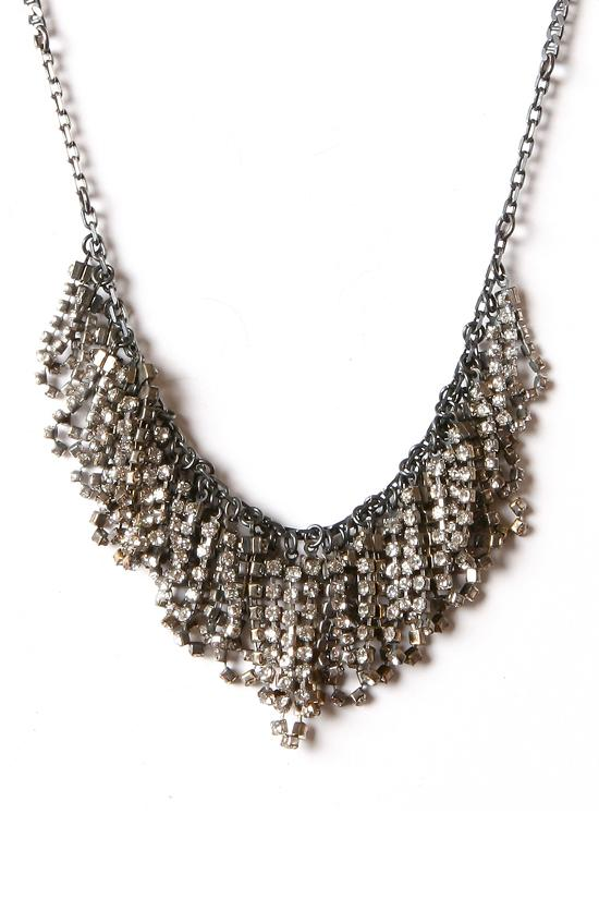 RHINESTONE FRINGE NECKLACE 17