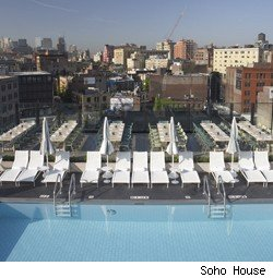 The roof at SoHo House