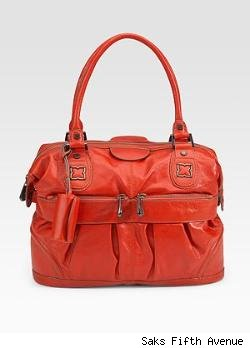 BCBGMAXAZRIA Femme Fatale Leather Satchel