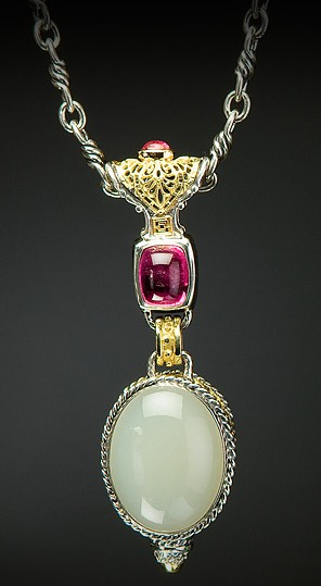 William Schraft Silver Moonstone Pendant