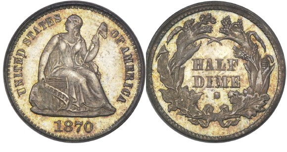 1870 dime