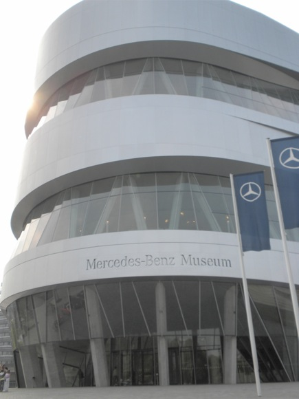 The Mercedes-Benz Museum's Curved Exterior