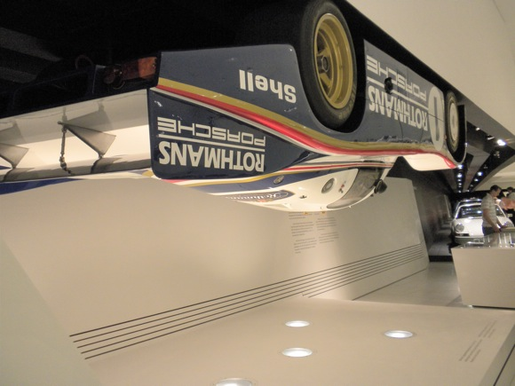 Porche Museum: Can a Porche Generate Enough Downforce to RIde Upside Down? (Answer: In Theory, Yes.)