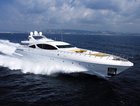 The world's largest open yacht, the gorgeous Overmarine Mangusta 165 (above) ...