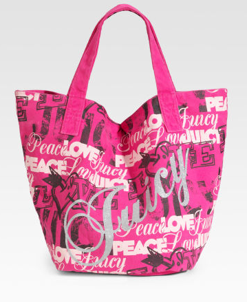 Juicy Couture Graphic Canvas Tote