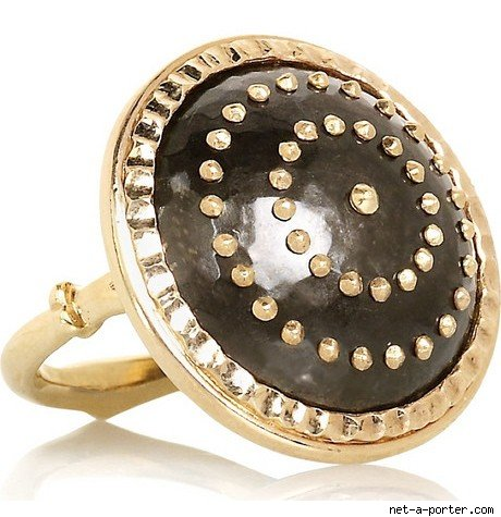 Philip Crangi Studded Plaque Ring