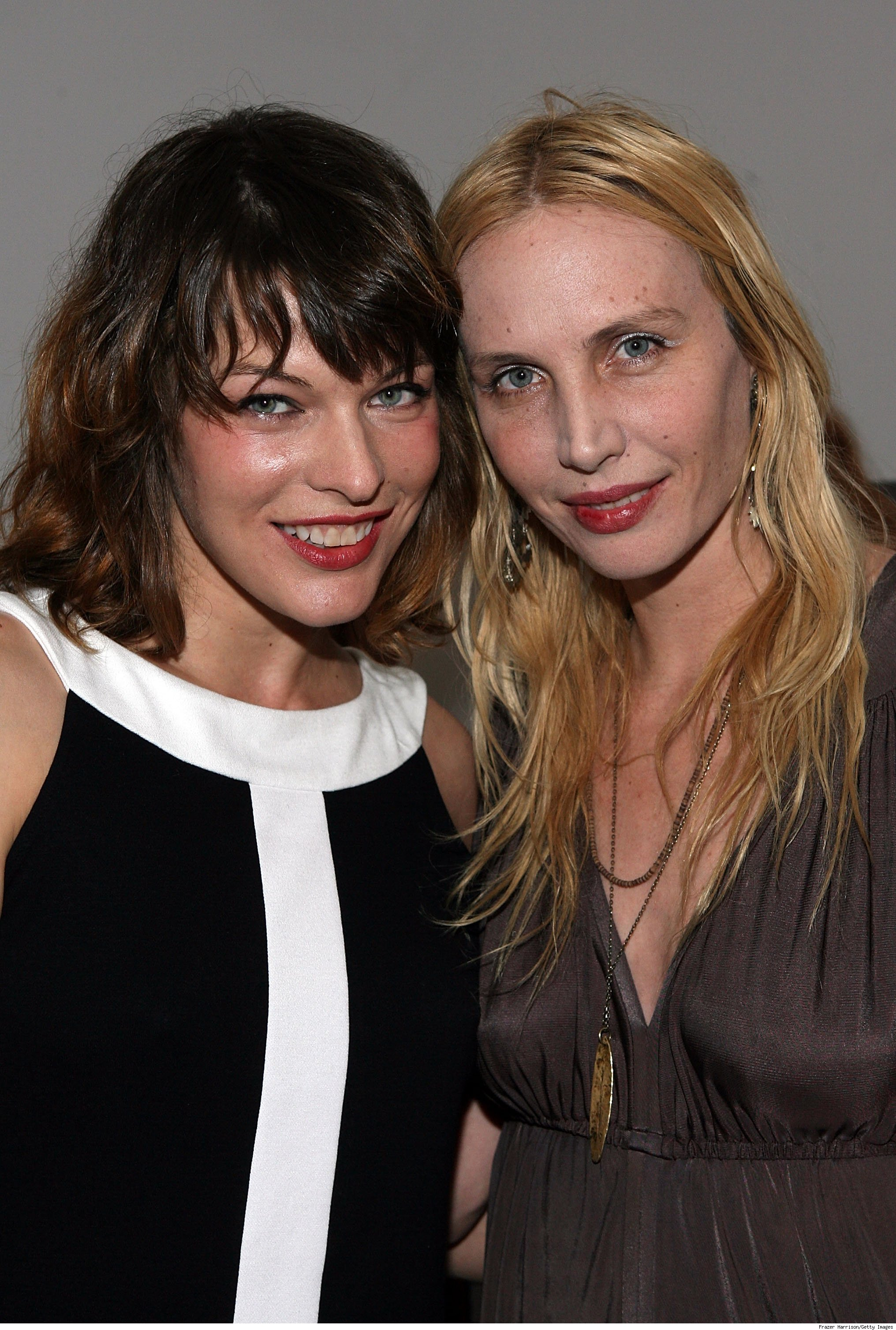 Milla Jovovich and Carmen Hawk