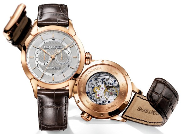 baume &amp; mercier william baume monopusher chornograph watch