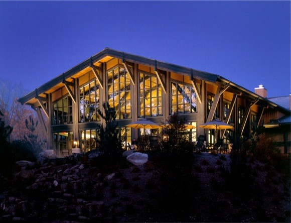 Lodge at Woodloch at Night
