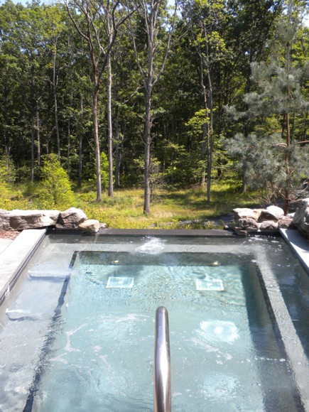 Outside Soaking Pool at the Lodge at Woodloch