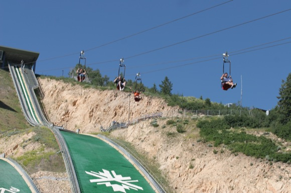 Zipline at Utah Olympic Park