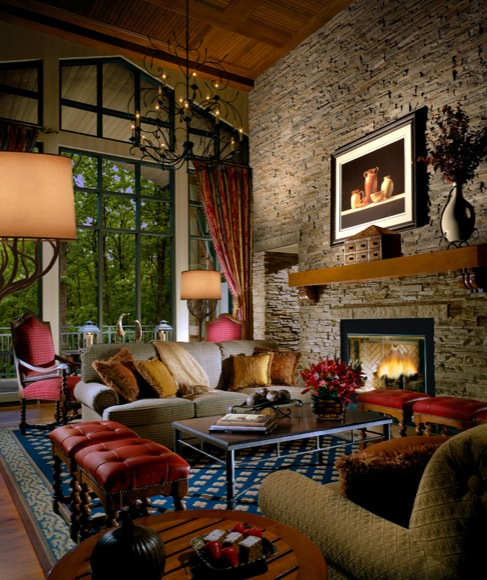 Living Room at the Lodge at Woodloch