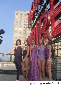 Zimmermann models on the roof of the Empire Hotel